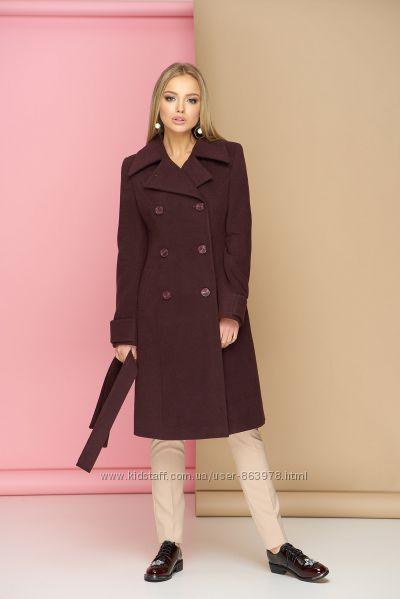 Кашемировое пальто 2019 с поясом A18, р. 44, 46, 48, 50