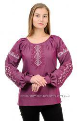 Блуза-вышиванка джинс-коттон р. 42-52