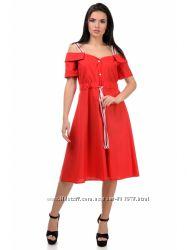 Воздушное летнее платье миди из коттона G375, р. S, M, L, ХL