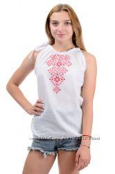 Блуза топ с вышивкой, вышиванка р. 42, 44, 46, 48 цвета