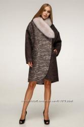 Роскошное зимнее пальто с натуральным меховым воротником F1212, р. 44-58