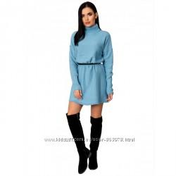 Шерстяное мини платье под высокие сапожки P425, р. 44-48 цвета