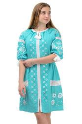 Шикарное платье-вышиванка лен, р.42-52 цвета наложка