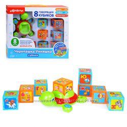 Обучающая игрушка Черепашка Умняшка с кубиками, Азбукварик