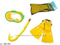 Наборы для дайвинга Intex, маска, ласты, трубка, от 8 лет