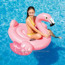 Плотик надувной розовый Фламинго, Intex