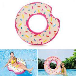 Круг надувной Пончик, Intex 56265, 107 см