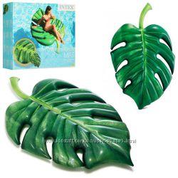 Яркий надувной матрас Пальмовый лист, Intex 58782