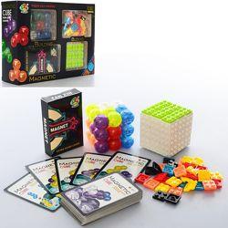 Игра магнитная Головоломка, кубик, шарики, карточки