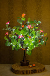 Светодиодное дерево Апельсин с розовым или белым цветком