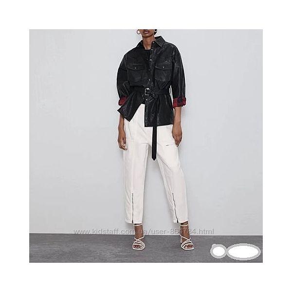 Рубашка эко-кожа Zara