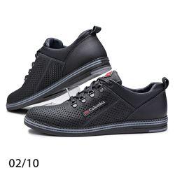 Спортивные туфли Columbia 02/10 натуральная кожа с перфорацией