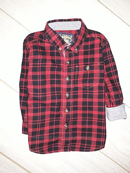Яркая рубашка TU на 12-18 мес .
