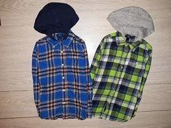 Яркая, тёплая рубашка Gap на 6-7 лет