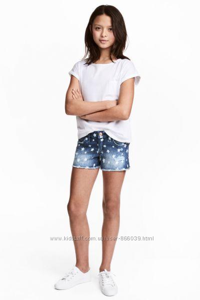 Шикарні джинсові шорти фірми Н&M оригінал  152, 158, 164 рост