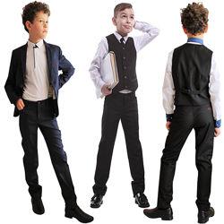 Школьный костюм для мальчика 110-176. Школьная форма пиджаки, брюки, жилеты