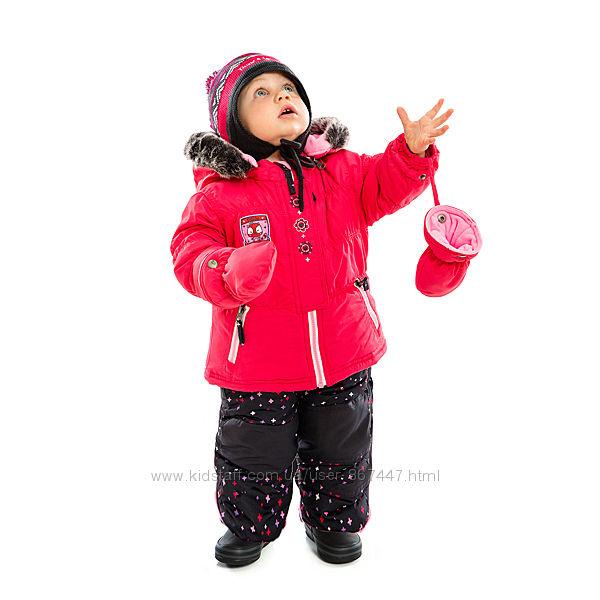 Детский зимний комбинезон для девочки 1 - 3 года ПЕЛЮШ раздельные комплекты