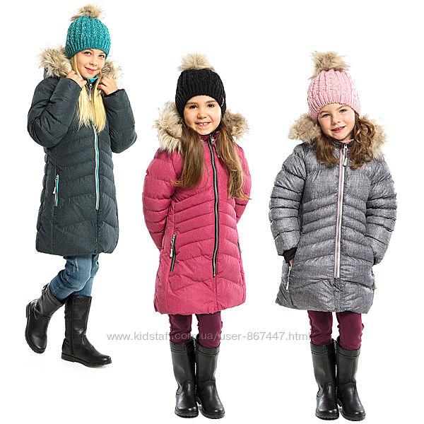 Детское зимнее пальто для девочки НАНО NANO Канада стеганное легкое, теплое