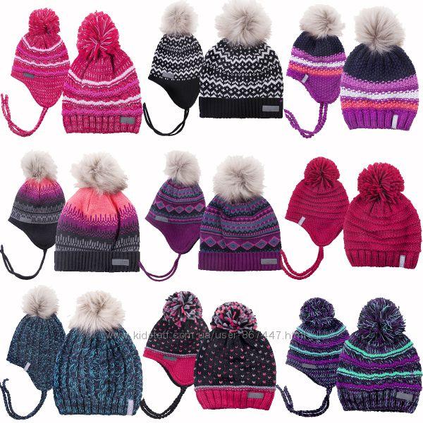 Детская зимняя шапочка для девочки на флисе бренд ПЕЛЮШ Канада все размеры