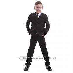 Школьный костюм для мальчика черный, синий пиджак, брюки. Школьная форма