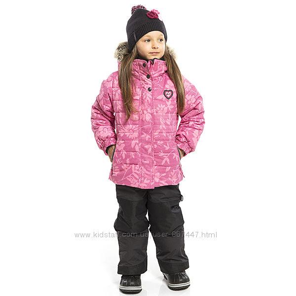 Детские зимние комбинезоны для девочек термо комплект, костюм куртка брюки