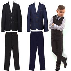 Школьный костюм для мальчика синий, черный. Школьная форма рост 116 - 176