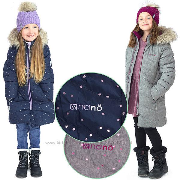 Детское зимнее пальто для девочки бренд НАНО Канада стеганное теплое легкое