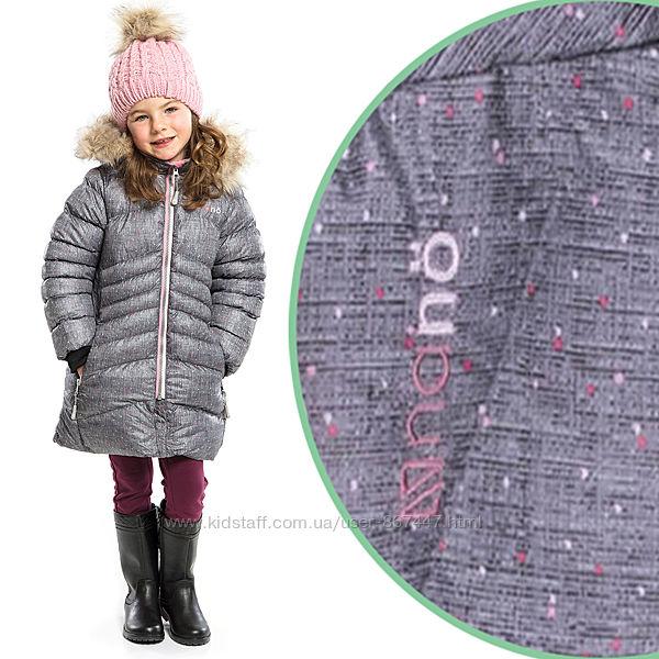 Детское зимнее пальто для девочки бренд NANO Канада легкое стеганное теплое