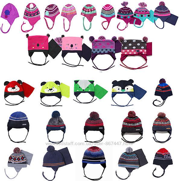Зимние шапки для мальчиков и девочек размеры от 3 мес до 16 лет бренд  НАНО
