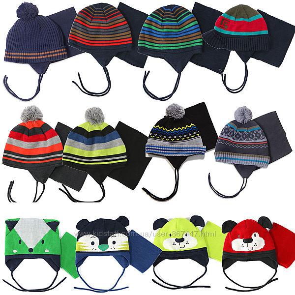Зимние шапки на флисе с манишкой для мальчиков бренд ПЕЛЮШ НАНО СНО Канада