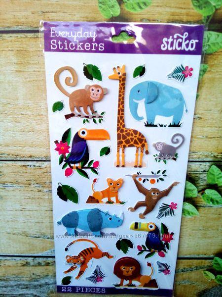 Креативные наклейки с животными для декора