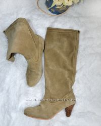 Levis 25, 5 см замшевые cеро-бежевые деми сапоги