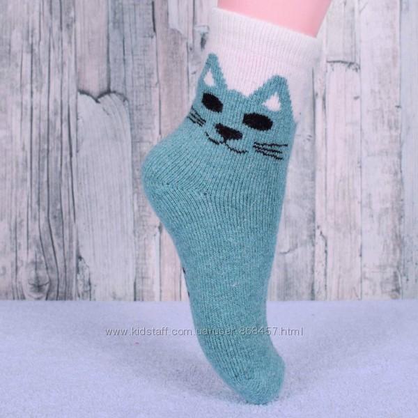Шерстяные носки  с махрой для девочки 16-18,18-22 см