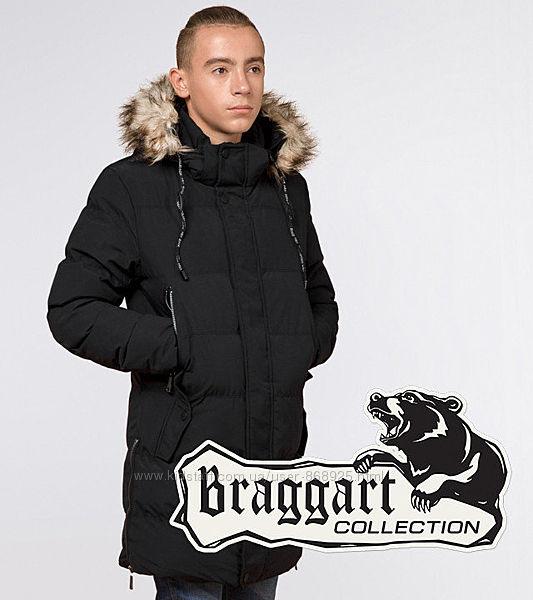 Молодіжна зимова куртка Braggart Youth чорний р. 164 , 170 арт. 25170H