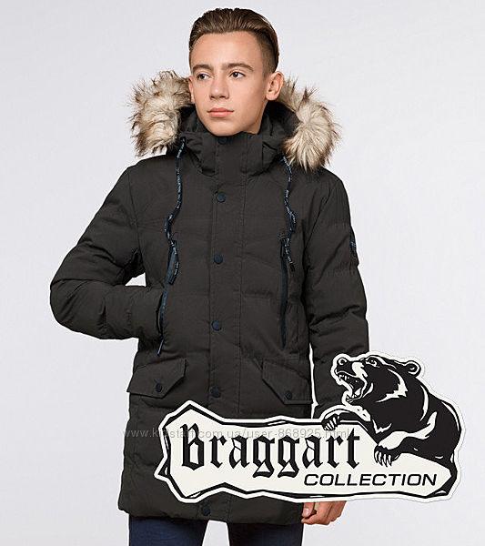 Молодіжна зимова куртка Braggart Youth , шоколад. , р. 158, 164 арт. 25230S