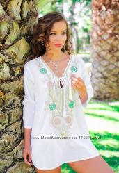 Шикарная туника с вышивкой ТМ Fresh Cotton новая коллекция