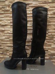 2330e725 Распродажа Шикарные кожаные зимние сапоги высокие на каблуке 36-40р