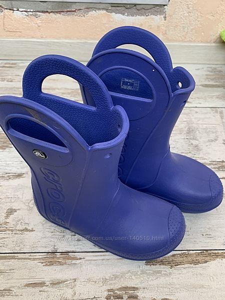 Crocs сапожки размер j3, синие