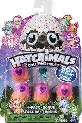 Набор Hatchimals CollEggtibles 4 фигурки в яйцах сюрприз и бонусная фигурка
