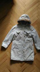 Демисезонное пальто в школу для девочки 7-9 лет, р. 130-140
