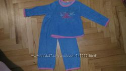 Махровая пижама на девочку TM HEMA на 3-4 года