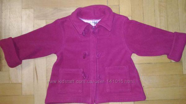 Удлиненное флисовое пальто для девочки early days