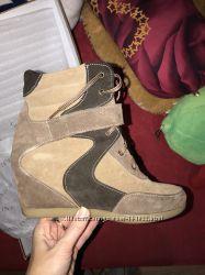Сникерсы ботинки замш