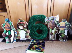 декор черепашки ниндзя для кенди бара