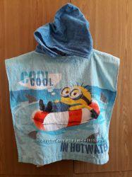 пляжное полотенце пончо kiabi