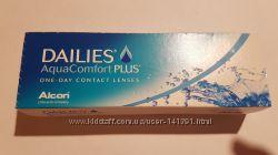 Линзы Dailies Aqua Comfort plus 30шт  -1, 5 и 4 линзы в подарок
