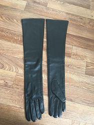 перчатки высокие натуральная кожа