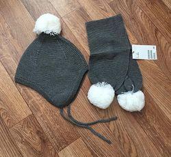 Шапка и шарфик H&M