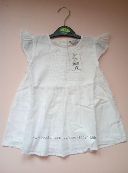Новая тончайшая блузка George р-р 104-110 хлопок