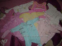 Одежда для новорожденных ползунки человечки бодики кофточки 0-9 мес бу